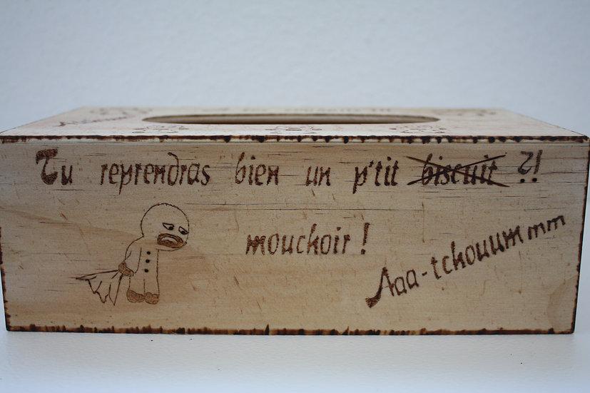 Boite à mouchoir Thème Noël d'Alsace Manele Bonhommes en pain d'épices