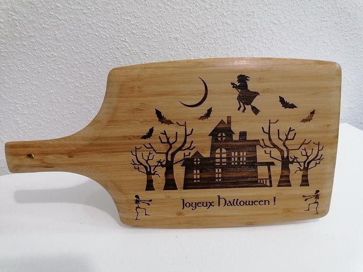 Planche à découper sous plat gravée décoration Halloween