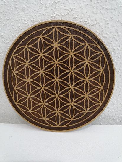 Fleur de vie en bois gravée 10 cm