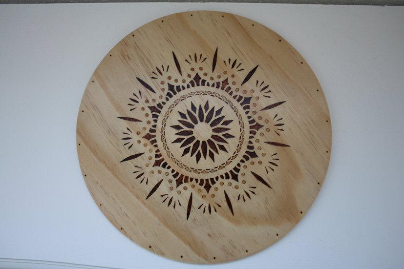 Tableau décoratif ou plateau de présentation Thème celtique Fleur de vie