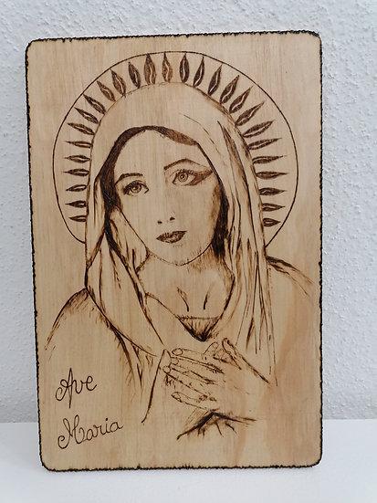 Portrait de la Sainte Vierge Marie de la Pentecôte