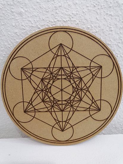 Gravure sur bois Metatron 18 cm
