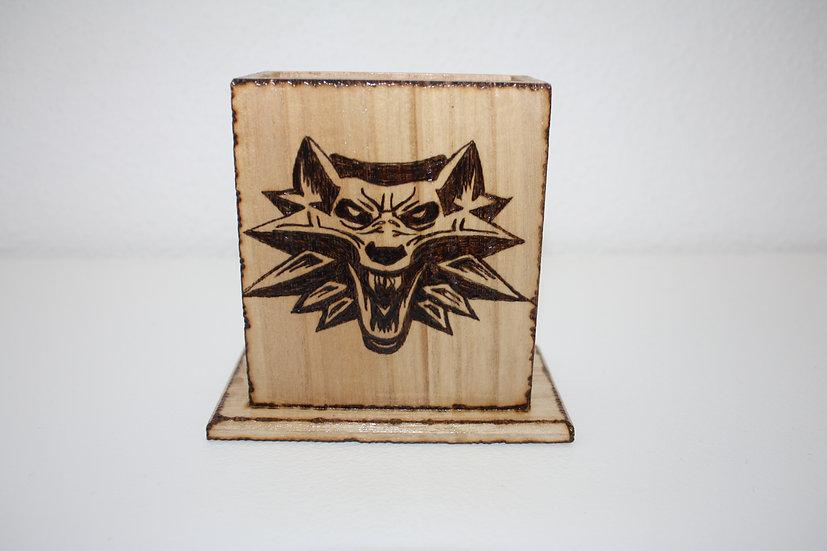 Pot à crayons boîte de rangement portable télécommande The Witcher Loup