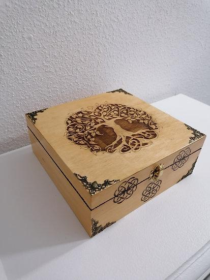 Boîte de rangement 6 compartiments Arbre de Vie Thé huiles essentielles thé