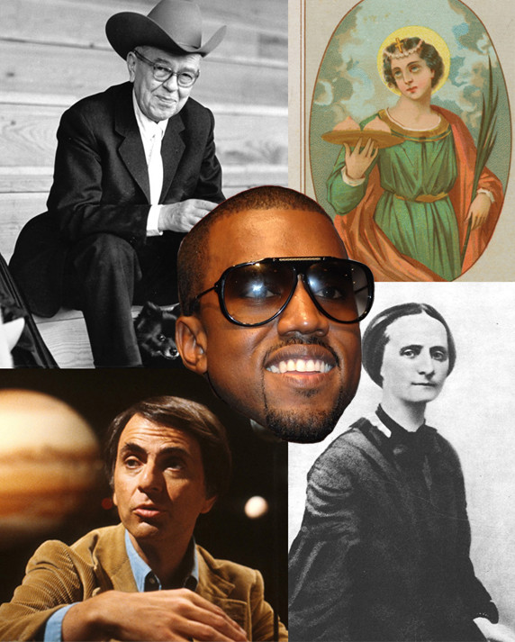 Kanye, Magritte, St Agatha, Božena Němcová and Carl Sagan