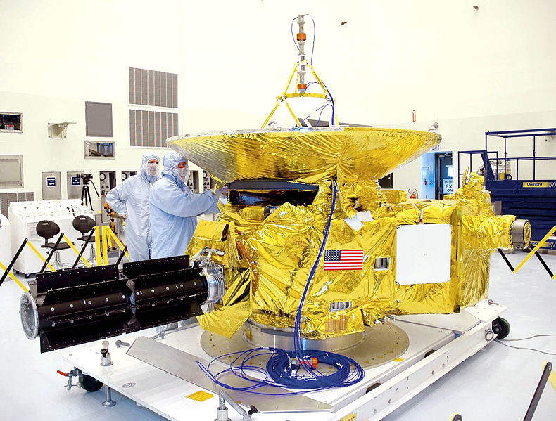 New Horizons with flag emblazoned