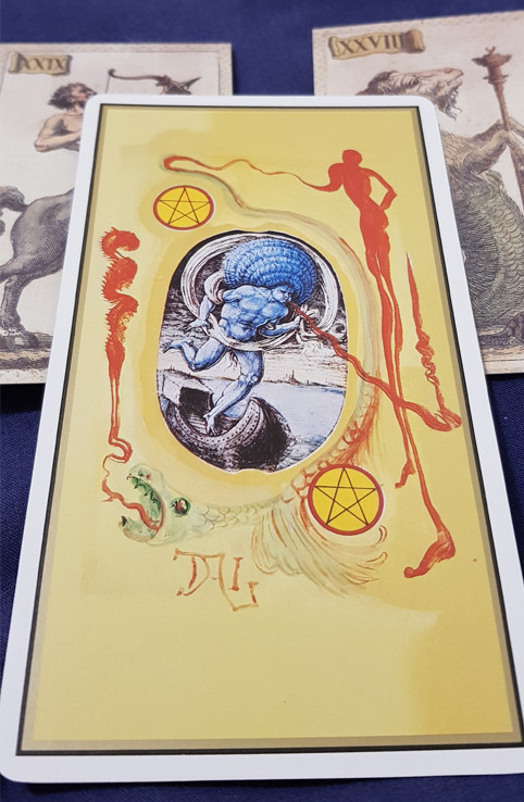 Universal Dalí Tarot Two of Pentacles