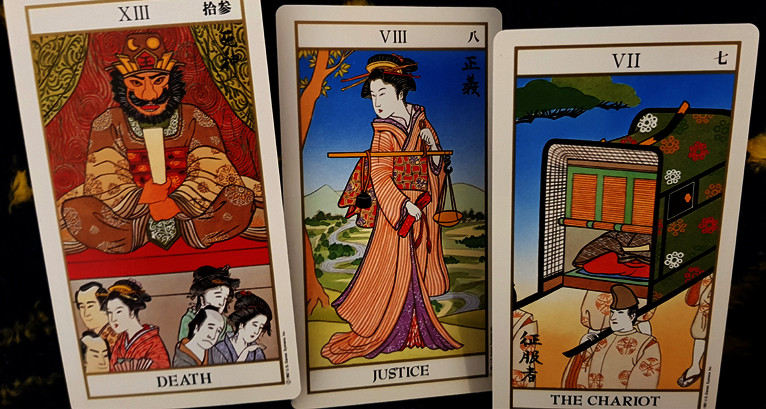 Death, Justice, and the Chariot in the Ukioyoe Tarot