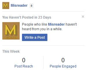 Like Misreader on Facebook or not whatever