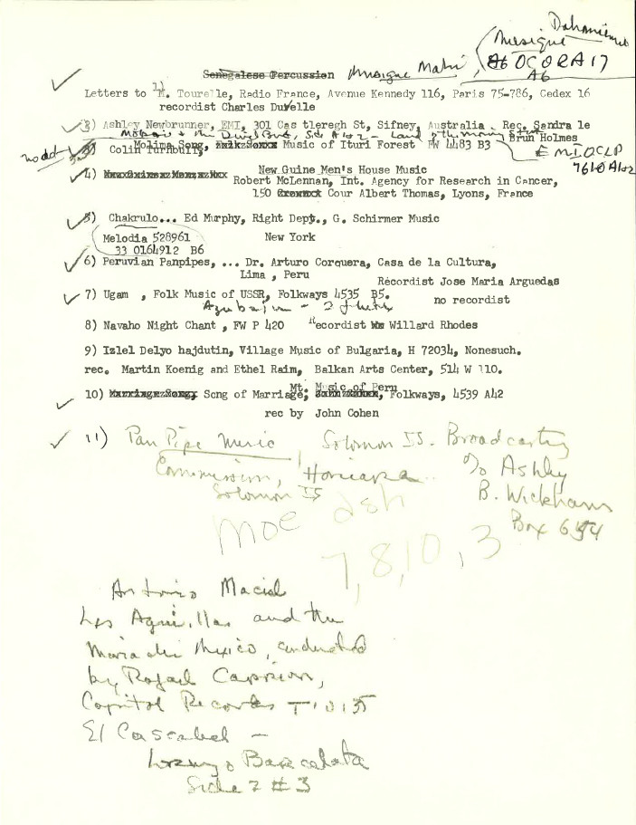 Alan Lomax and the Voyager Record Contenets: Alan Lomax collection (AFC 2004/004), American Folklife Center, Library of Congress