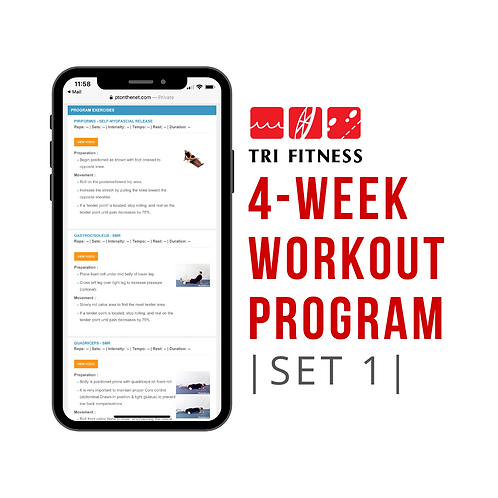 4 Week Workout Plan (Set 1)