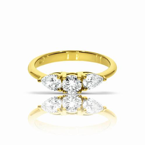 טבעת יהלום | דגם: קולומביאנה