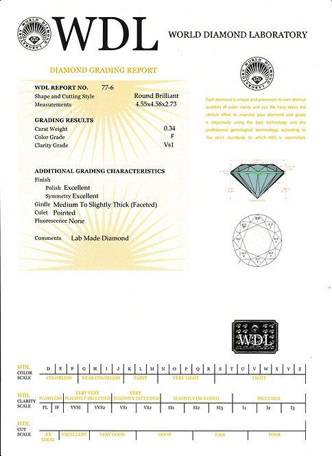 יהלום - 0.34 קראט