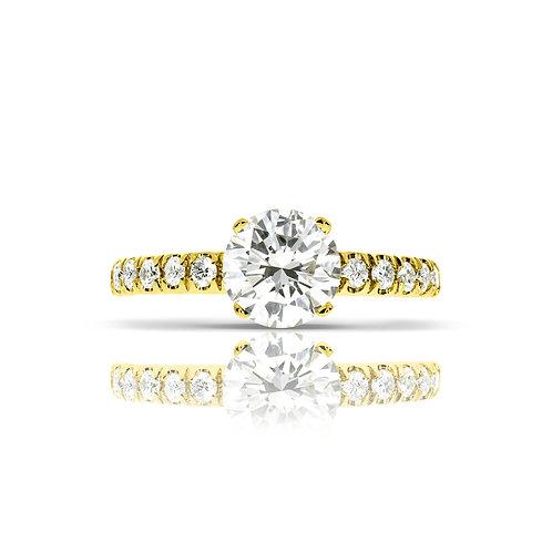 טבעת יהלום | דגם: ברבטון
