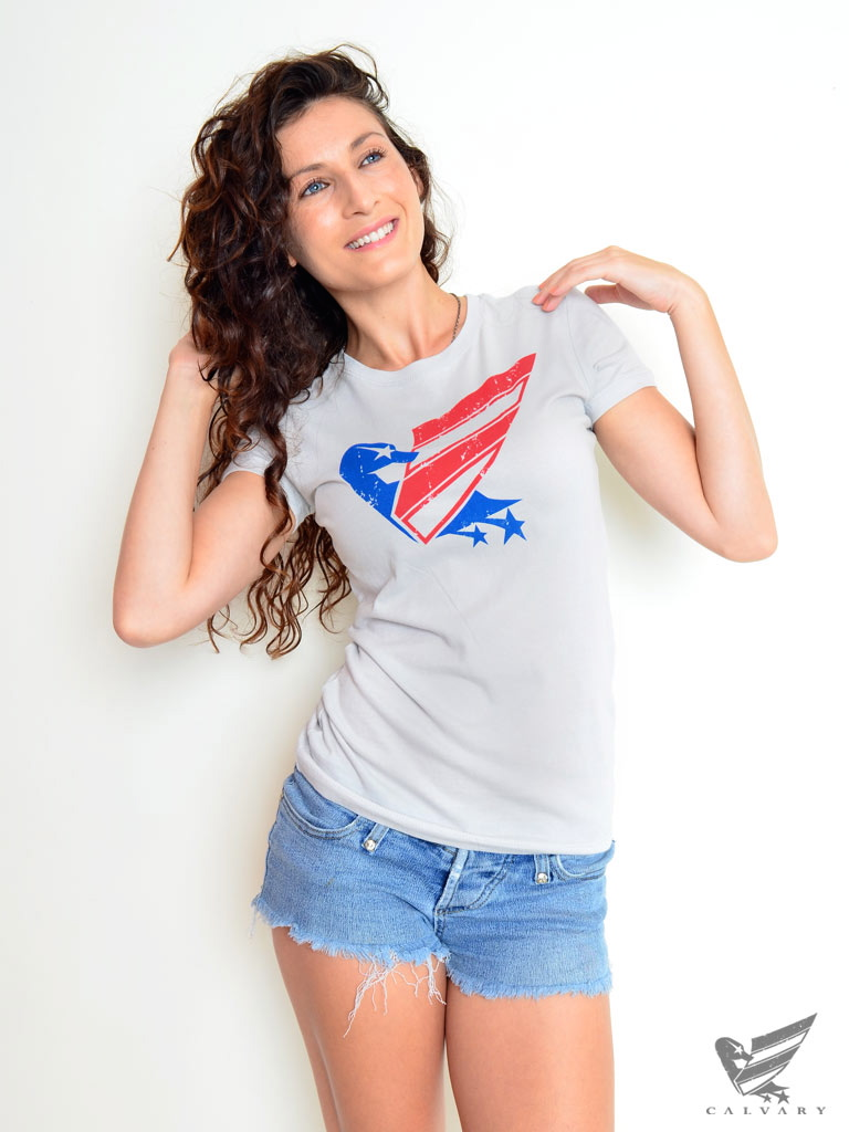 Women's-Silver-Duck-USA-Tee