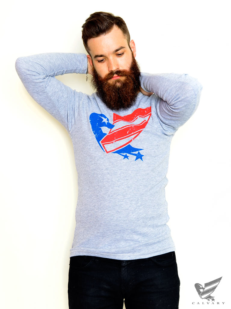 Men's-Grey-Duck-USA-Long-Sleeve-T