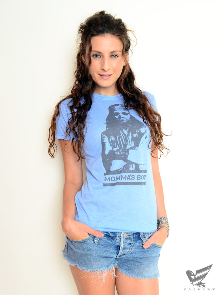 Women's-Blue-Momma's-Boy-Stamp-Tee