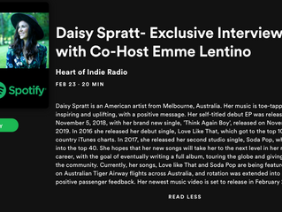 Daisy Spratt- Exclusive Interview with Co-Host Emme Lentino