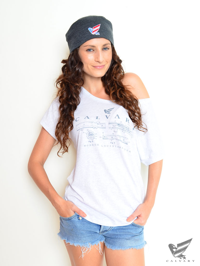 Women's-White-Blueprint-Top