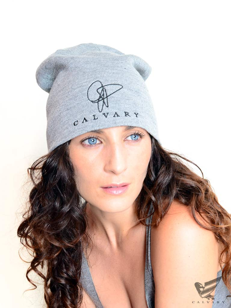 Unisex-Gray-Duck-USA-Beanie-Back