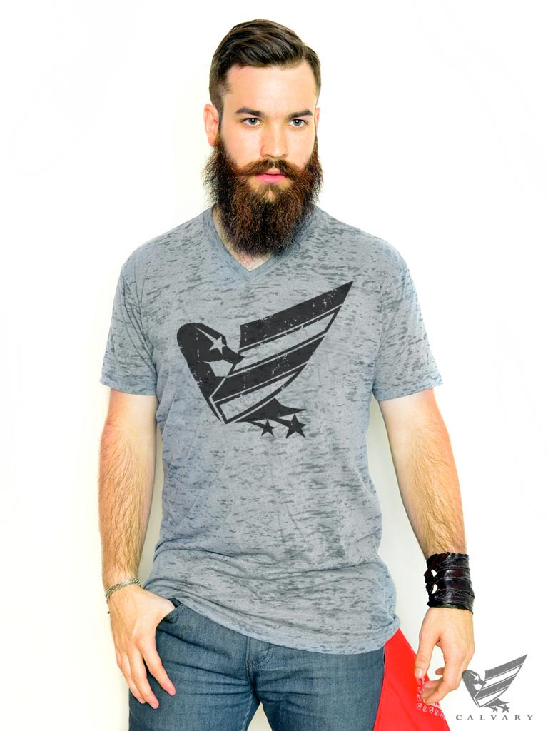 Men's-Grey-Black-Duck-Tee