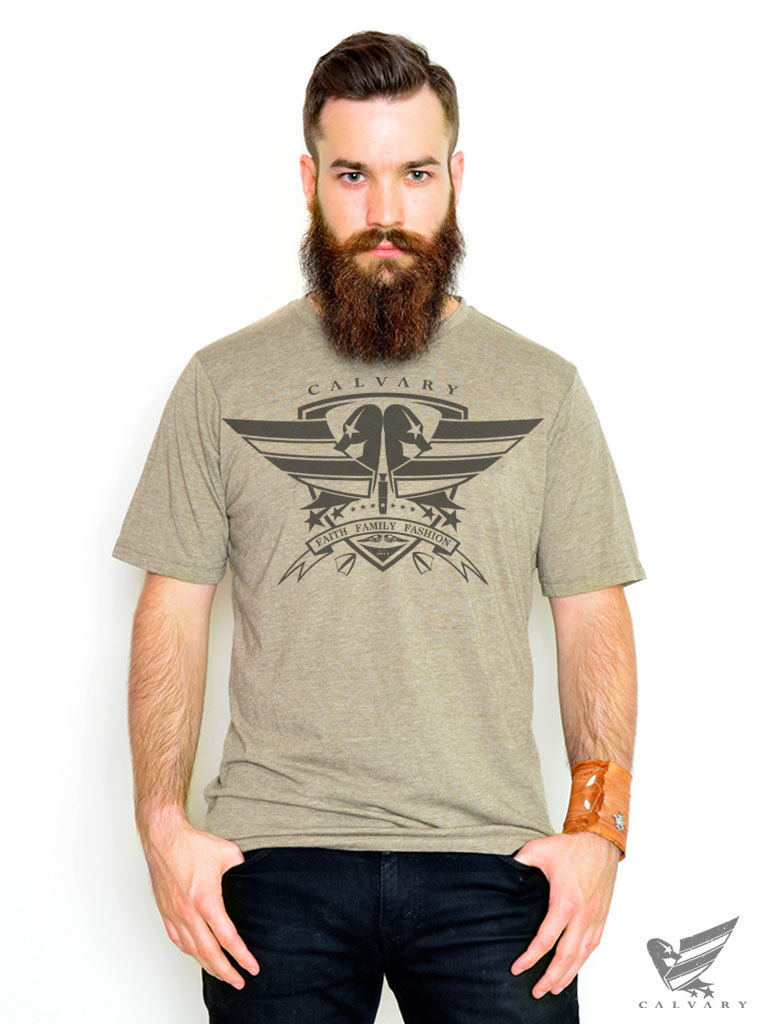 Men's-Sage-Calvary-Shield-T