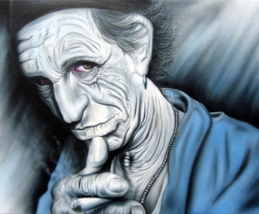 Corello Airbrushed Canvas Keith Richards