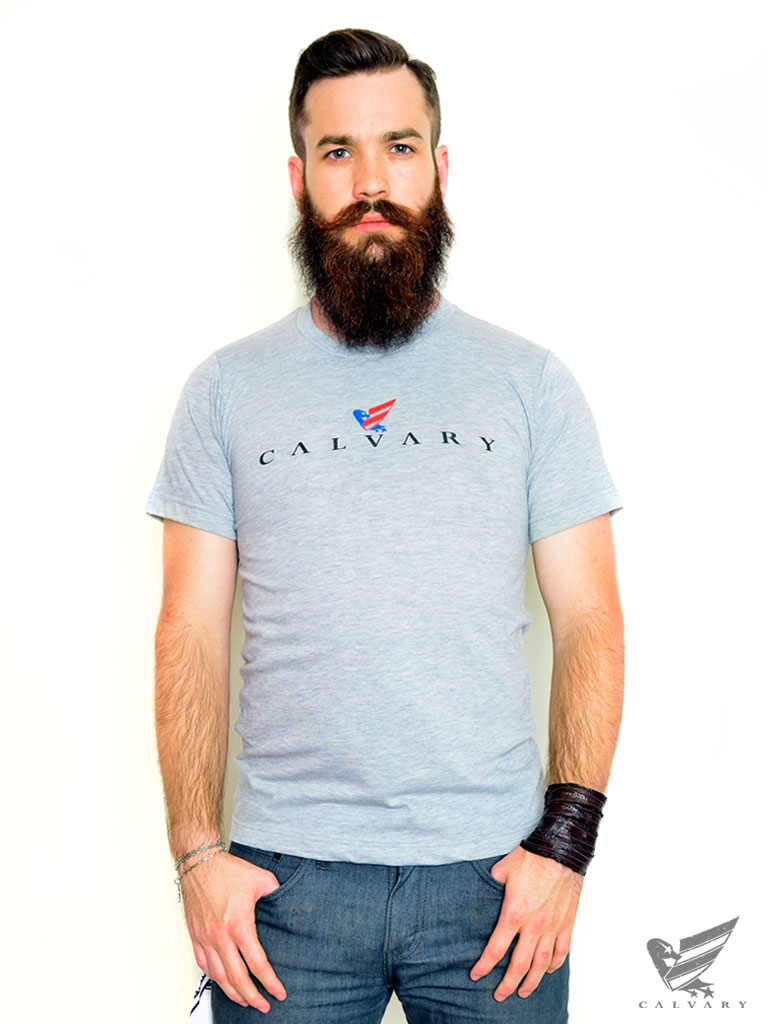 Men's-Grey-Calvary-T