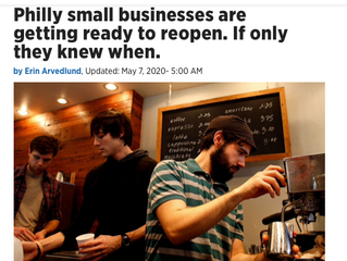 PHILADELPHIA SMALL BUSINESSES ARE GETTING READY TO RE-OPEN. IF THEY ONLY KNEW WHEN