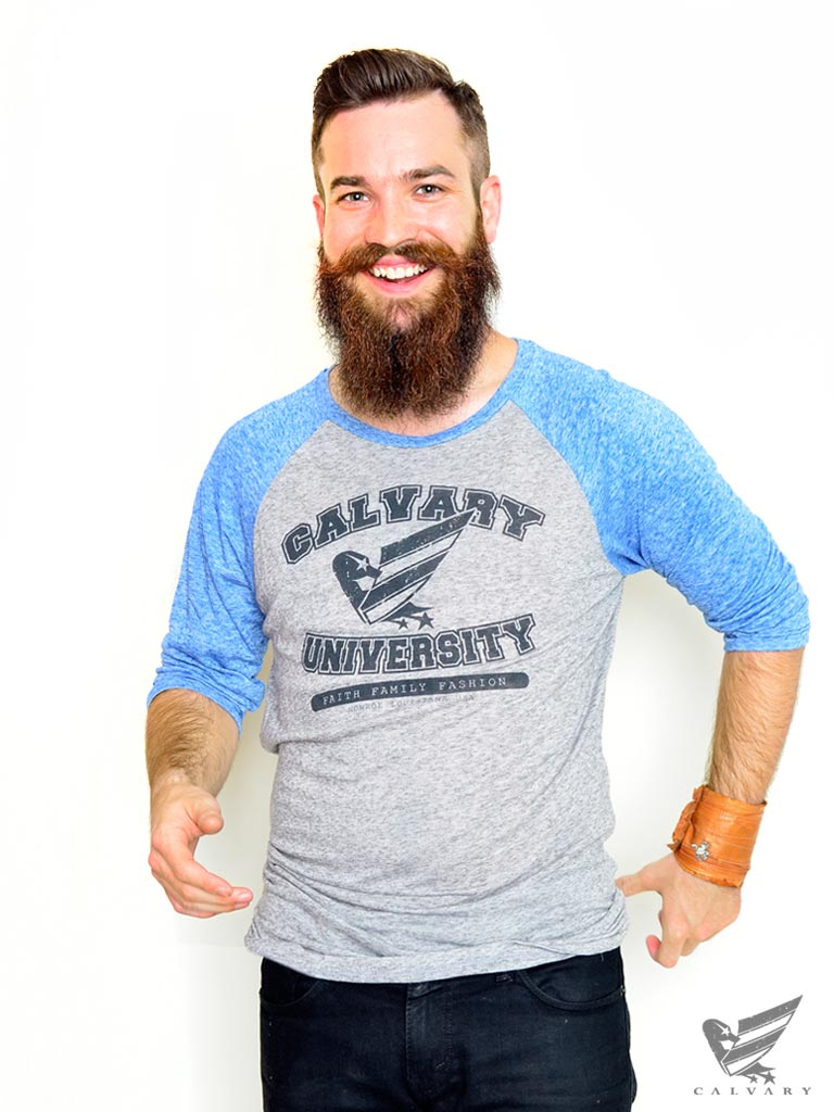 Men's-Blue-Calvary-University-T