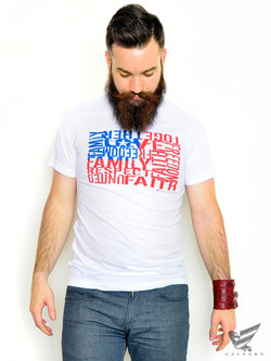 Mens-Silver-Not-Just-Words-Tee