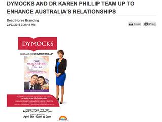 DYMOCKS AND DR KAREN PHILLIP TEAM UP TO ENHANCE AUSTRALIA'S RELATIONSHIPS