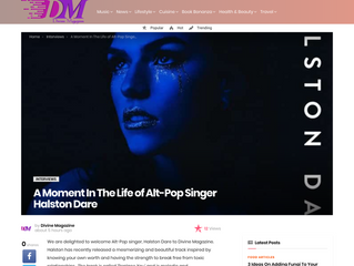 A Moment In The Life of Alt-Pop Singer Halston Dare