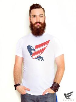 Men's-White-Vintage-Duck-USA-T