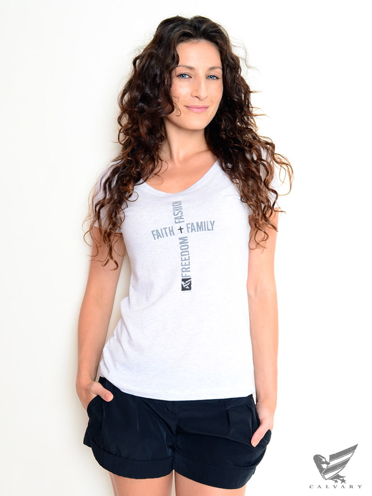 Women's-White-Crossword-Tee