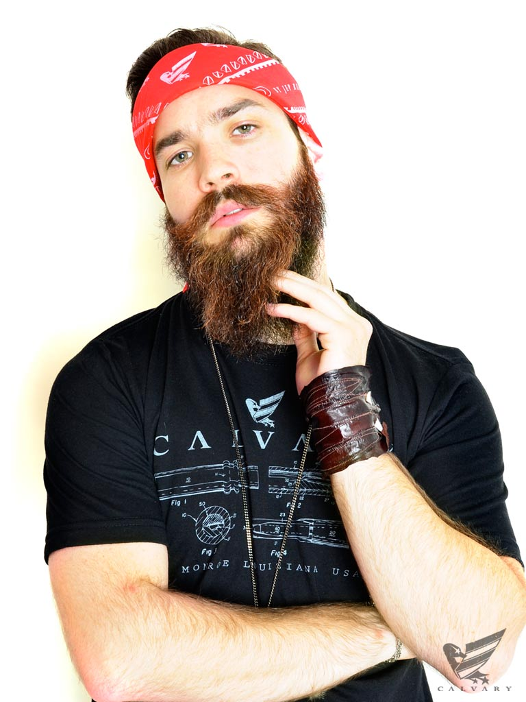 Unisex-RedWhite-Duck-Scroll-Bandana