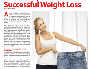 Health & Wellness Magazine Article Achieving Successful Weight Loss article I wrote for Health &