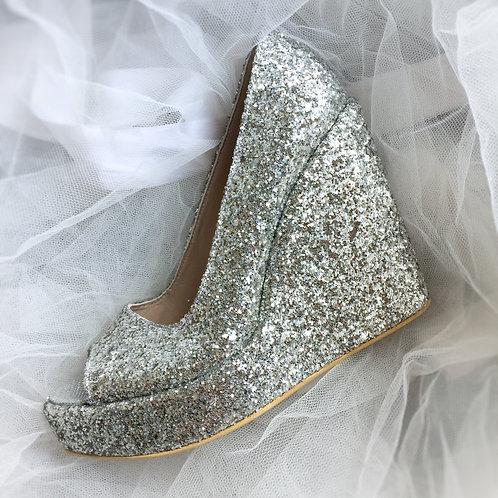 Molly Dolgu Topuk Gelin Ayakkabısı
