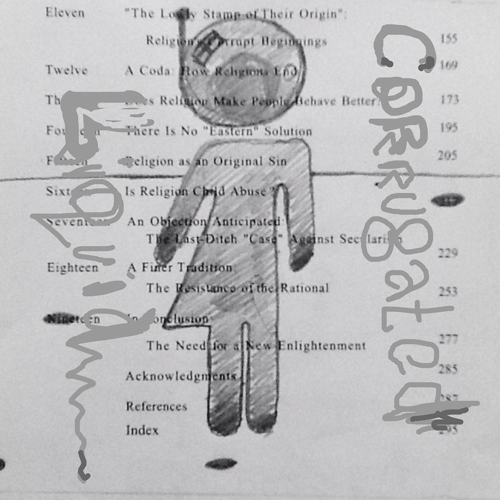 Corrugated Liquid 20cm x 20cm Mixed Media on Paper