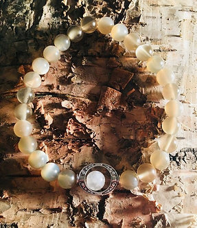 Peachy Moon Crystal Bracelet