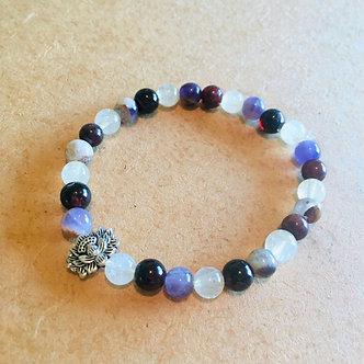 Lotus Power Crystal Bracelet