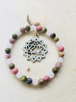 Heart Chakra Crystal Bracelet