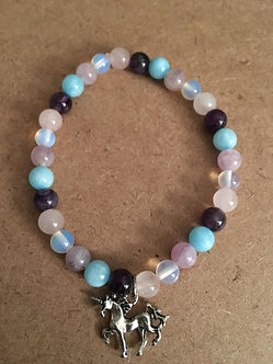 Cotton Candy Unicorn Crystal Bracelet