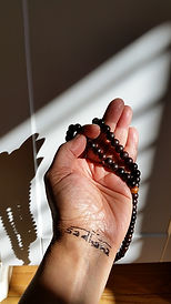 Using mala beads for repetitive prayers/affirmations