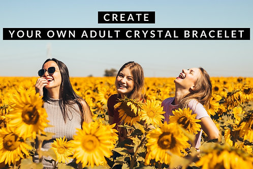 Create Your Own Crystal Bracelet-Adult