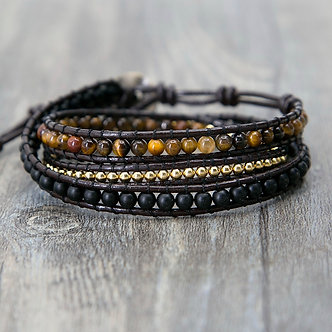 Tiger's Eye Power Wrap Bracelet