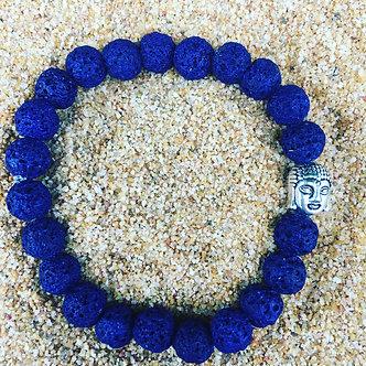 Indigo Lava Rock Crystal Bracelet