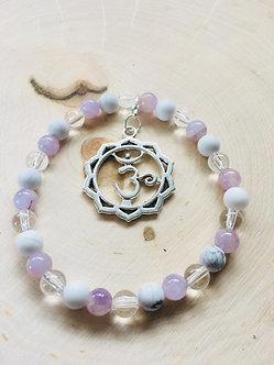 Crown Chakra Crystal Bracelet