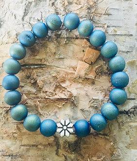 Blue Druzy Crystal Bracelet