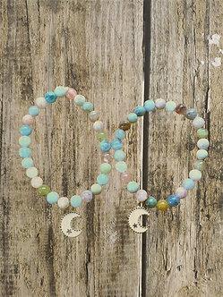 Tween Moon Magic Crystal Bracelet Set-Morganite